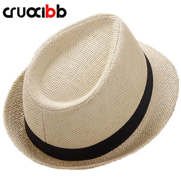 2017 Fashion Unisex Sun Hat Men Bone Ladies Summer Straw Hat Beach UV Protection Dad Cap Leisure Chapeau Panama women