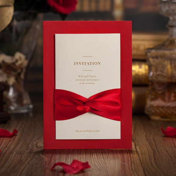 52pcs Wedding Invitations Cards Personalized Flower Hollow White Engagement Invitation Supplies Free Customized