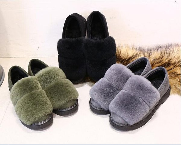 Casual Snow Boots Lightweight Plush Ankle Boots cony hair For Women Lovers Outdoor Fashion Warm Shoes With Fur Botas Mujeres
