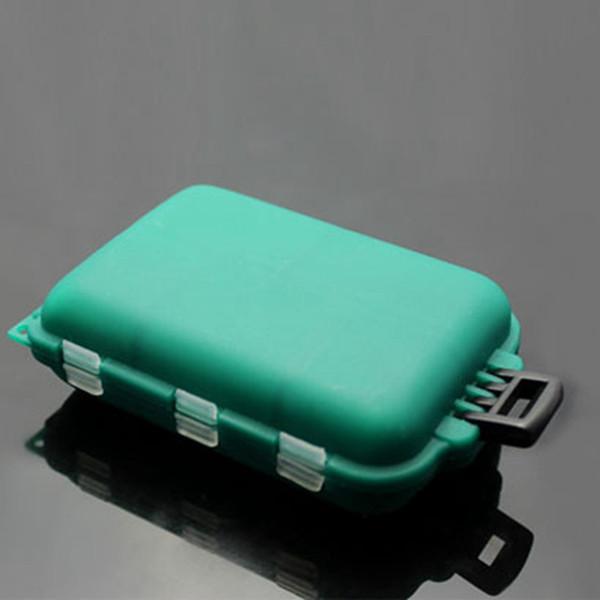Al por mayor-CALOFE Caja de Aparejos de Pesca de Plástico Impermeable Ecológico Señuelo de la Pesca Gancho Cebo Caja de Almacenamiento 10 Compartimentos 1 UNID 10 * 6.5 * 3 cm