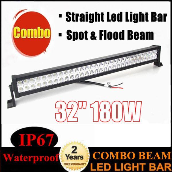 32 inch 180W LED Light Bar Offroad Vehicles Work Light Flood Spot Combo Beams Roof Light Bar for Trucks Boat Driving Lamp ATV Jeep 10-30V
