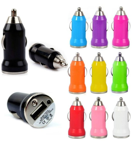 Colorful Bullet Car Chargers Mini Portable Jump Starter Inverter Power Bank Car Charger For Cellphone Free Shipping