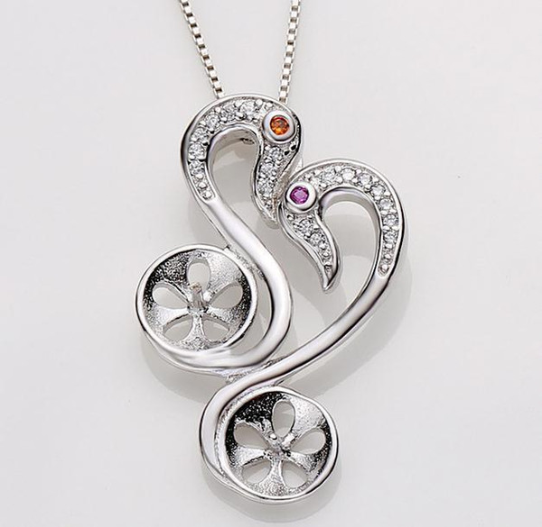 Wholesale Hot sell Fashion Mandarin duck shape natural pearl pendant accessories DZ0123