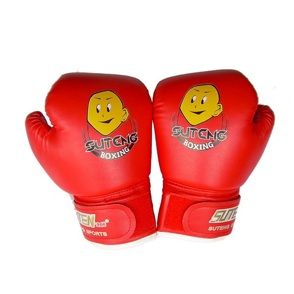 Wholesale Child 1 Pair Durable Boxing Gloves Cartoon Sparring Kick Fight Gloves Training Fists PU Leather Muay Sandbag Free Shipping