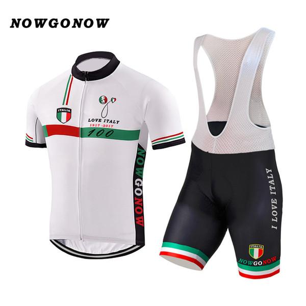 YENI Özelleştirilmiş Sıcak 2017 JIASHUO Beyaz İTALYA ITALIA mtb yol YARıŞ Ekibi Bisiklet Pro Cycling Jersey Setleri Önlüğü Şort Giyim Solunum Hava