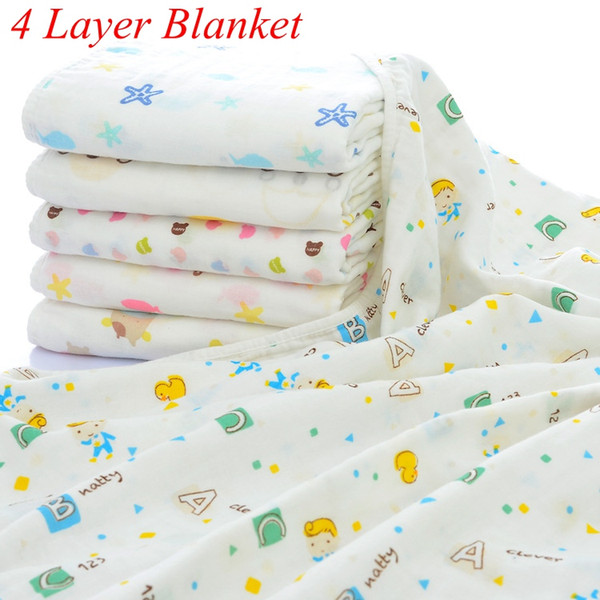 top popular INS Xmas Newborn Infant Play Mat 4 Layers Baby Swaddle Blanket Winter Baby Blankets Cotton Baby Bedding Newborn Receiving Blanket 2020