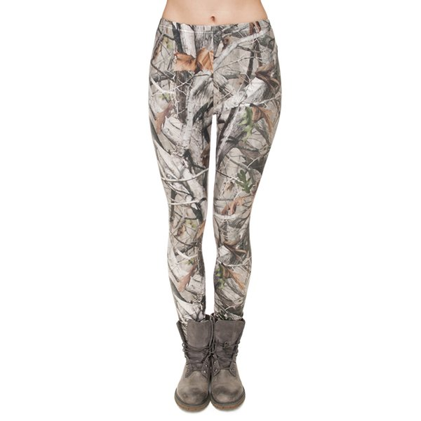 top popular Lady Leggings Camo Tree 3D Graphic Digital Print Woman Skinny Stretchy Sport Gym Pants Yoga Girl Camouflage Fitness Soft Trousers (J31752) 2019