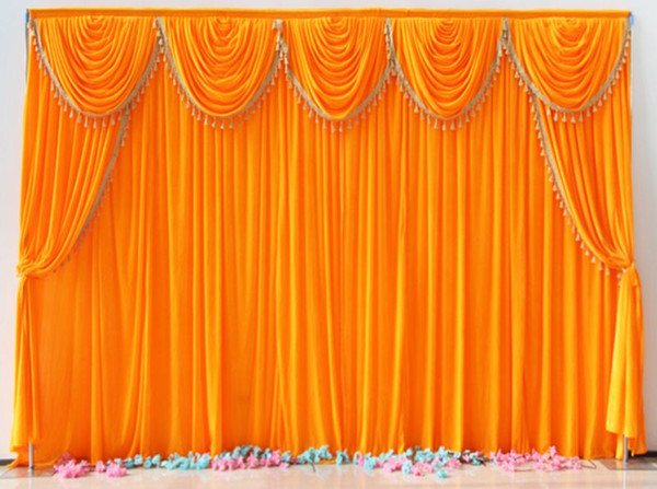 Latest Orange Color Velvet Fabric Portable Booth Background Wedding Pipe And Drape Backdrop For Ocasion Party Decoration Wedding Decoration Ideas