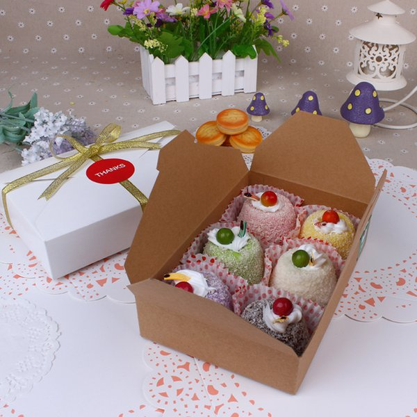 Biscuit Paper Box Candy Cake Cookies Container Food Packaging Christmas Baby Shower Party Gift19.5*4*12.5cm 10 PCS 2 Style