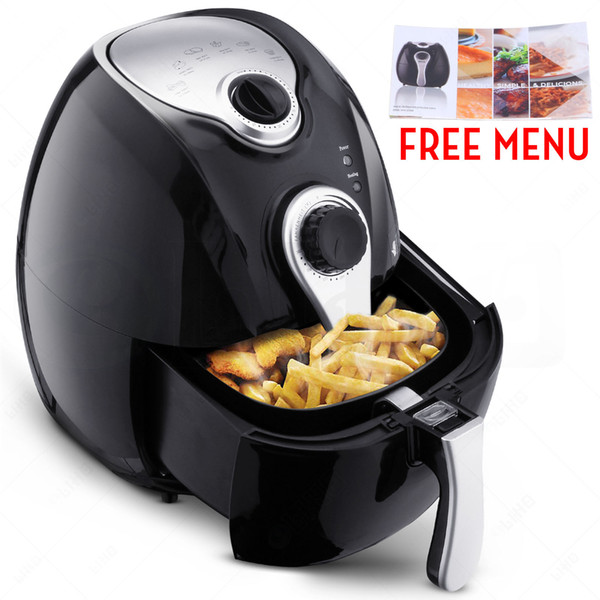 Electric no oil air fryer multifunction programmable timer temperature control