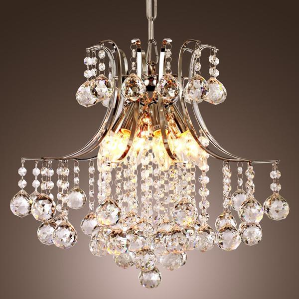 Lampadario moderno a cristallo contemporaneo con 6 luci, lampada a sospensione Plafoniera moderna per camera da letto, soggiorno, sala da pranzo, corridoio