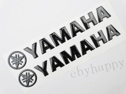 best selling 14.5CM Black fuel tank Emblem Decal logo For yamaha motorcycle body stickers