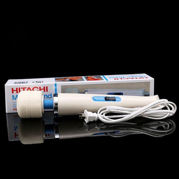 top popular Hitachi Magic Wand Massager AV Vibrator Massager Personal Full Body Massager HV-250R 110-240V Electric US EU AU UK Plug Promotion 2019