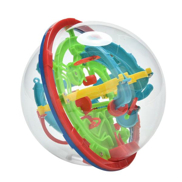 Wholesale- 3D Magic Intellect Maze Ball Kids Children Balance Logic Ability Puzzle Game Educational Training Tools