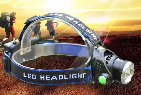 2000Lm Impermeable CREE XML T6 Zoom LED Faros Lámpara de Cabeza Lámpara de Luz Zoomable Ajustar Enfoque Para Bicicleta Que Acampa Senderismo LLFA