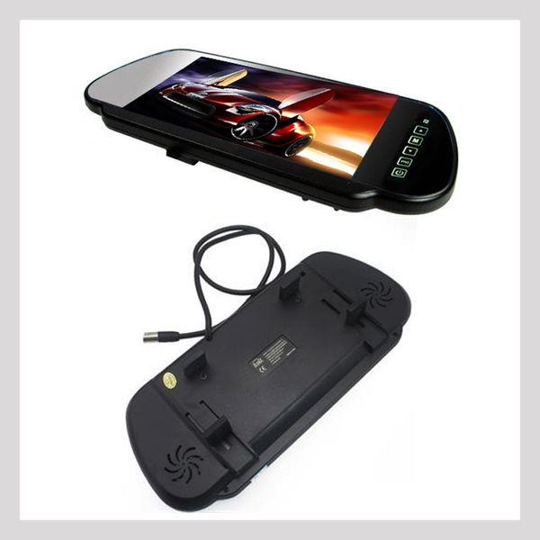7 pollici monitor auto MP5 Bluetooth TFT LCD 2 vie video in forma per fotocamera DVD testa cuscino PAL NTSC retrovisore POST