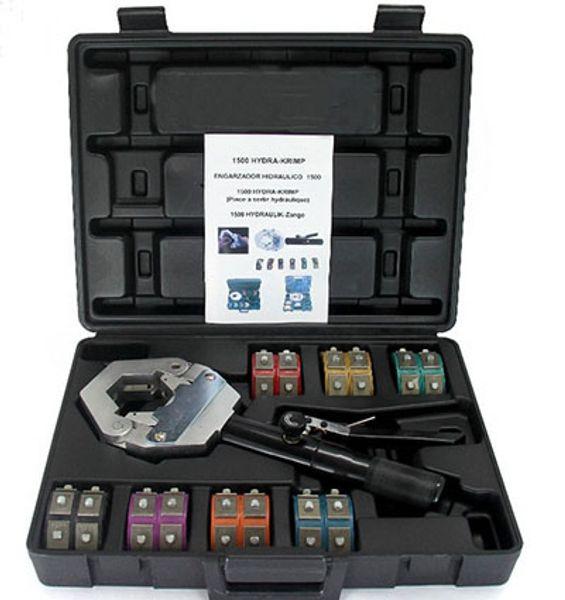 top popular # 71500 auto air con ac parts repair tools, Handheld Hose crimping  AC Hydraulic Hose Crimper kit tools 2021