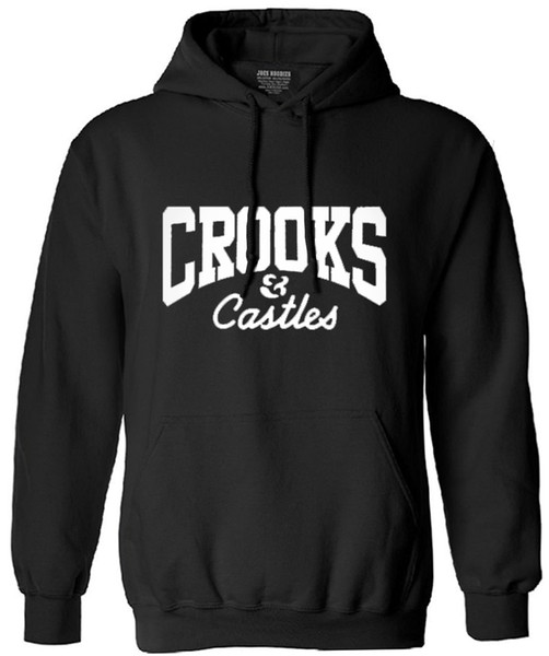 Wholesale-New fashion 2016 autumn winter men's hip hop hoodie Crooks and Castles hooded long sleeve brand casual tops sweatshirt for men