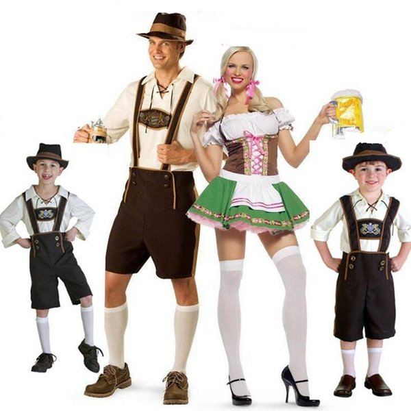 Adults Men Women Germany Oktoberfest Theme Costume Bartender Costume Halloween Carnival Cosplay Fancy Dress Party Decoration