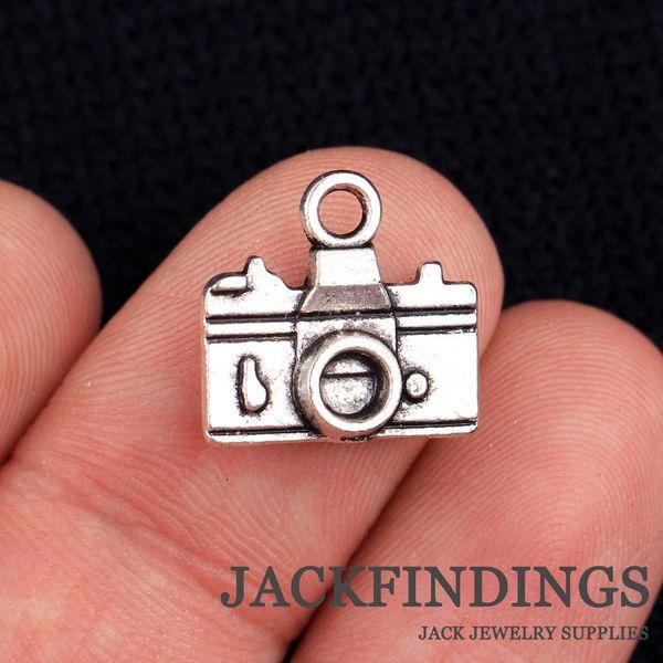 Al por mayor-20pcs 15x14mm antiguos encantos de plata tibetana colgante de la boda / teléfono / decoración / pulsera collar de la cámara CMG0671