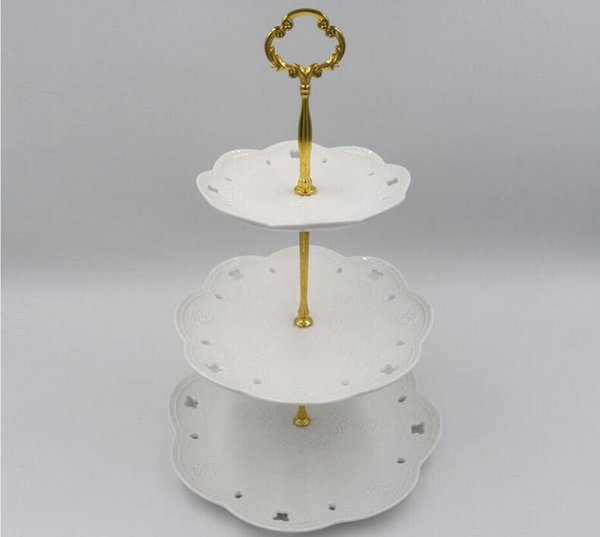 1/2/ 3Tier Stainless Steel Round Cupcake Stand Wedding Birthday Cake Stand Display Tower Kitchen Tools (Plates are NOT inlcuded)