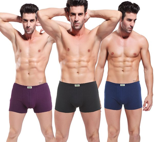 boxer mens underwear middle waisted U convex mens panties cotton soft light thin ventilate L-3XL free shipping
