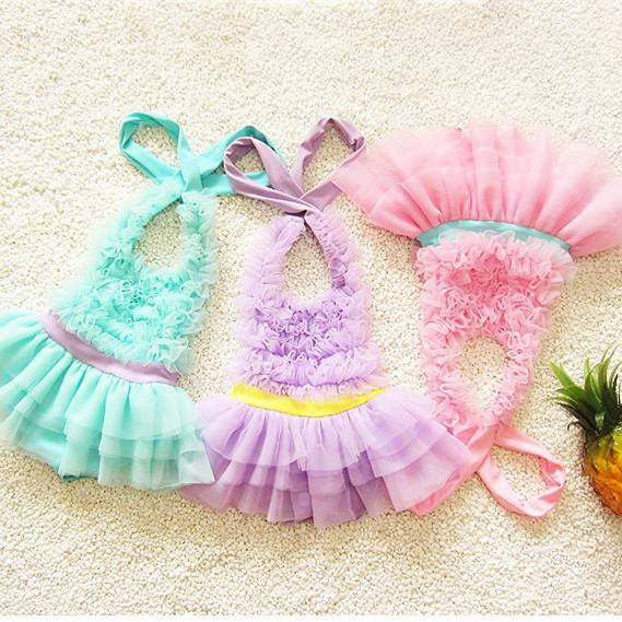 Baby Clothes Girls Swimsuit Swimwear 2PCS Cute Solid Color One-Piece Bathing Suit With Hood Kids Clothing XY77