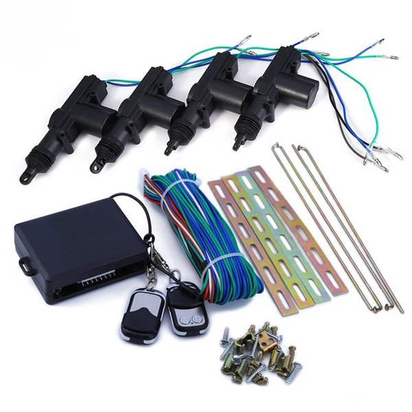 360 Degree Rotation Universal Car Auto Remote Central Alarm Security Kit 4 Door Bracket Locking Keyless Entry System