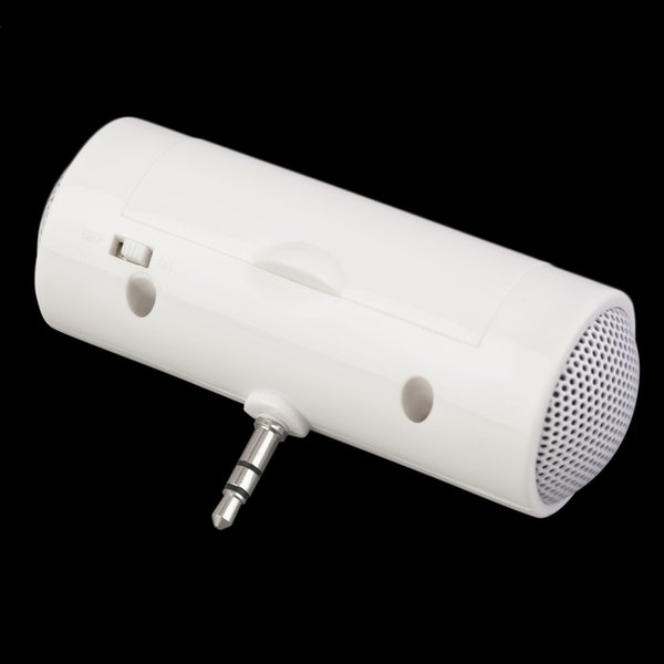 Wholesale- Mini White Portable 3.5mm Music Player Stereo Speaker For Cell Phone Mobile