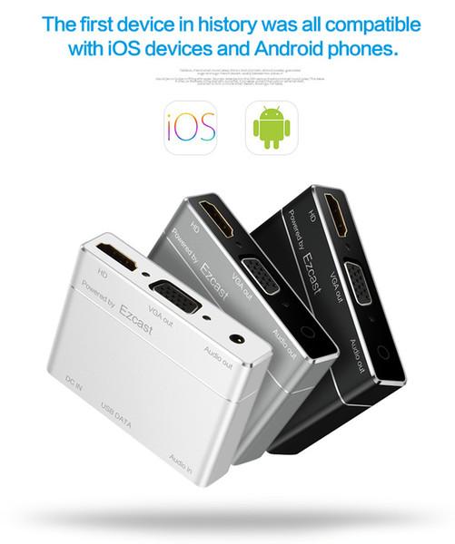 2017 Nuevo compatible con iOS, Android, Windows y Mac. CONVERTIDOR USB A HD. La interfaz HDMI / VGA se puede conectar con el televisor y el proyector.