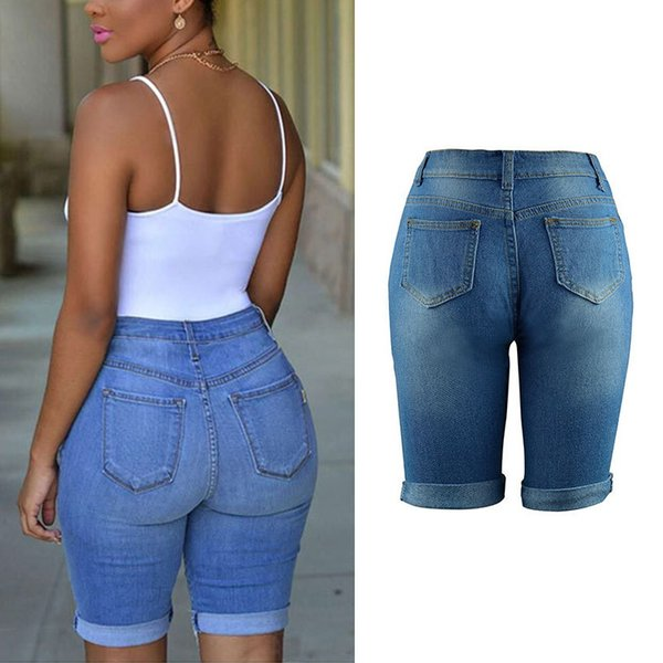 2017 Wholesale Summer 2017 High Waist Shorts Women Denim Shorts ...