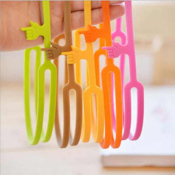 top popular Silicone Finger Pointing Bookmark Book Mark Office Supply Funny Gift 2020