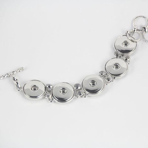 Neueste Metalllegierung Noosa 5 Klumpen-Armband justierbarer Druckknopfarmband-Ingwerschnellkupferarmband-Frauenschmucksachen Neue Ankunft