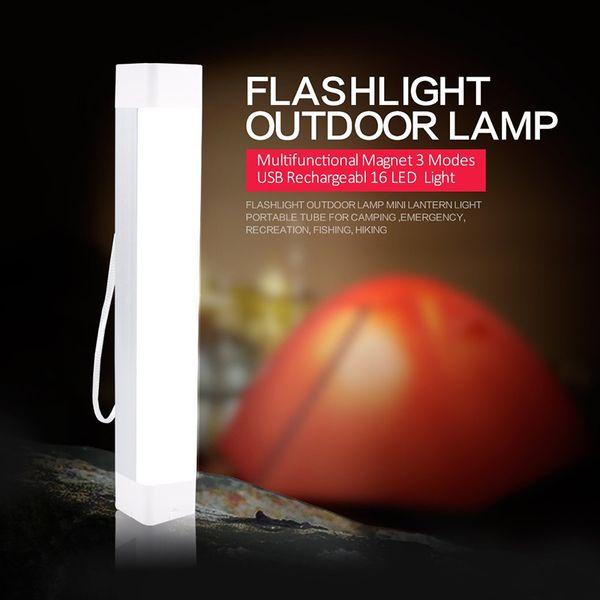 SOS Luz De Emergência holofotes de liderança portátil Com Magnético Lâmpada de Acampamento Lanterna Portátil USB Luz Ao Ar Livre Recarregável Para Carro de Bicicleta
