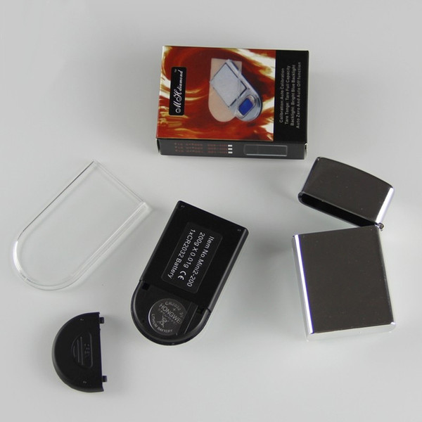 20PCS 200g x 0.01g Mini Lighter Style Digital Scales For Gold And Diamond Scale Jewelry 0.01 Balance Gram Electronic Scales