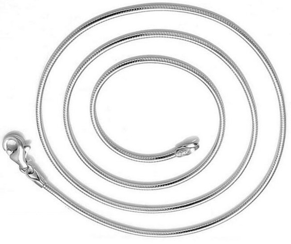 10pcs/lot Silver Plated Snake Chain Lobster CLasps Necklace For DIY Jewelry Gift CH01 Free Shipping