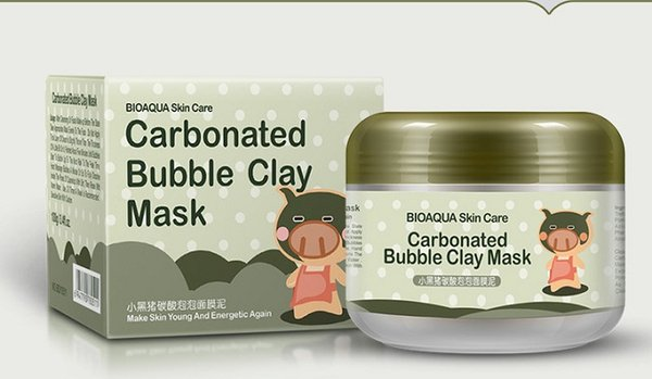 BIOAQUA pig carbonated bubble clay Mask 100g remove black head acne Shrink pores face care facial sleep mask Free shopping