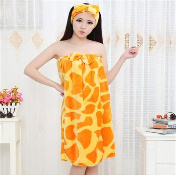 ef1459bac6 2016 Spring cute robe sexy towel nightgown sexy Bra chest wrapped bow bathrobe  flannel nightgown bathrobe longer section   16 Color