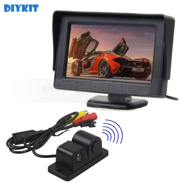 4.3inch Rear View Monitor Car Monitor + Waterproof Parking Radar Sensor Car Camera Parking System Kit 2 in 1