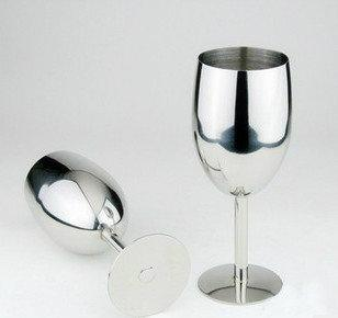 Stainless Steel Red Wine Cups Apply To Bar Party Creative High Quality Abrasion Resistance Goblet Hot Sell 17CM 16gc R