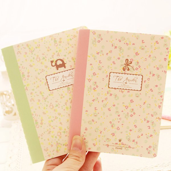 Wholesale- D51 1X Floral Notebook School Supplies Stationery caderno filofax Planner Writing Tool Student Children Day Gift papelaria dia