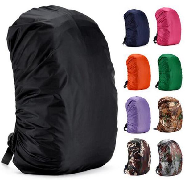 Funda impermeable para la lluvia para mochila de camuflaje Bolsa de equipaje Cubiertas de la lluvia de polvo para viajar Camping Senderismo Ciclismo al aire libre 11 colores YW150