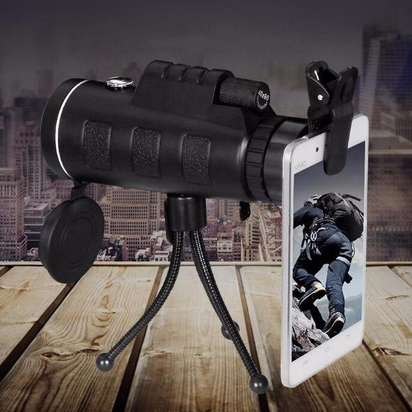 HD 35X50 Optical Monocular Telescope with Compass Tripod Phone Clip Clear Vision Zoom Spotting Scope Outdoor Camping Equipment