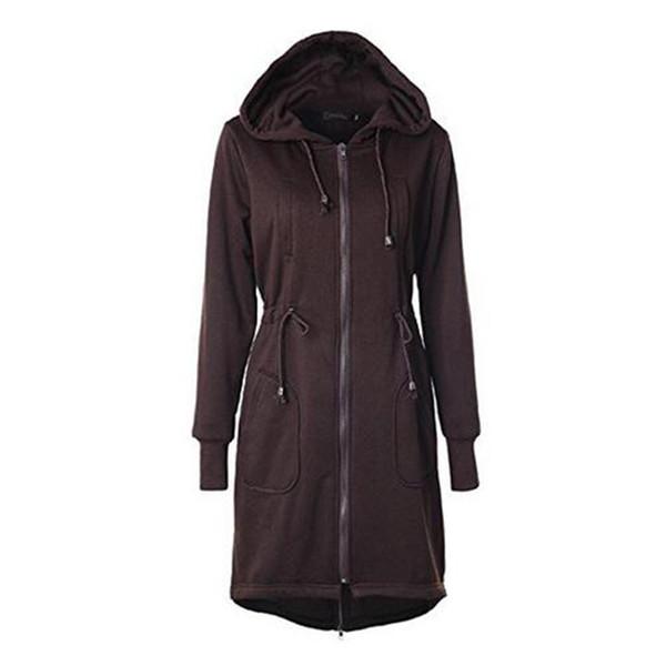 New Womens Winter Casual Zip Up Coat Hoodie Cardigan Outwear Jacket