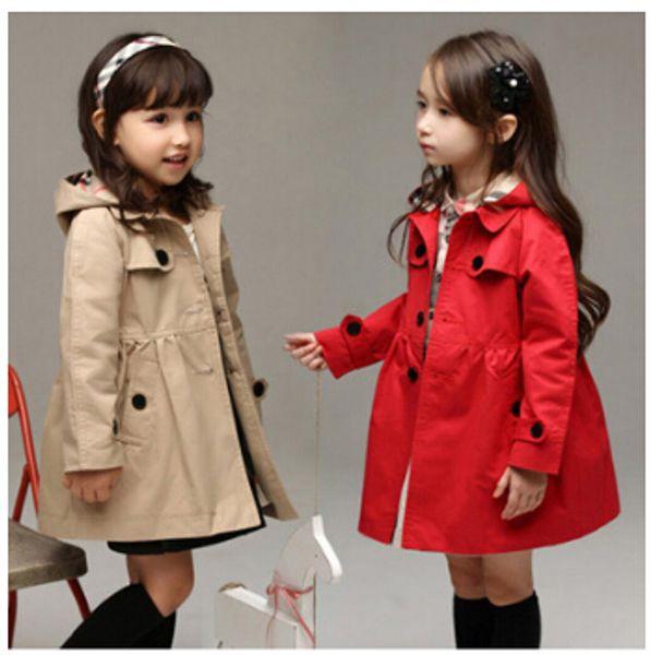 best selling 2017 han edition cardigan child trench coat girls spring new cuhk children's children's wear children's pure color coat
