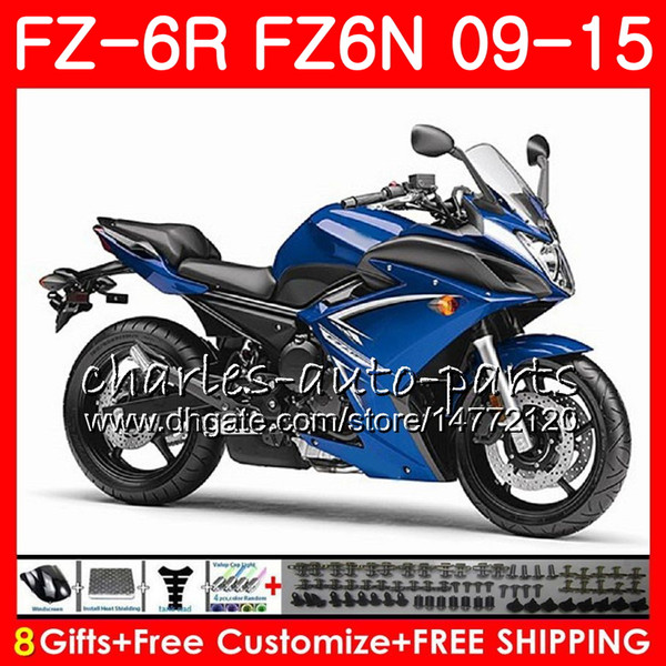 Body For YAMAHA FZ6N FZ-6N FZ6R 2009 2010 2011 2012 2013 2014 2015 82NO52 FZ-6R FZ6 R FZ 6N FZ 6R blue black 09 10 11 12 13 14 15 Fairing