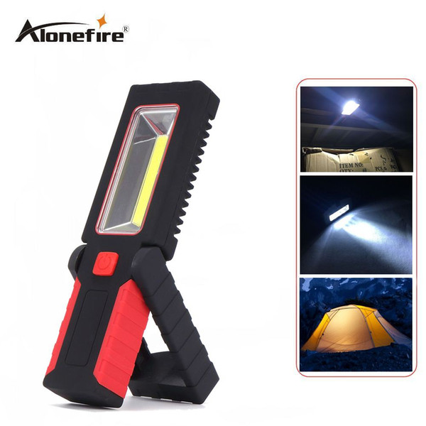 AloneFire C029 2 Mode Adjustable Seat Work Light Camping Outdoor Lamp With Built-in Magnet And Hook LED Flashlight