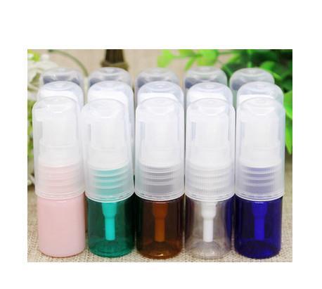 2017 neue viele mehr farben 5 ml PET lotion reine tau kosmetische flasche halbmaske pulverprobe pumpe flasche