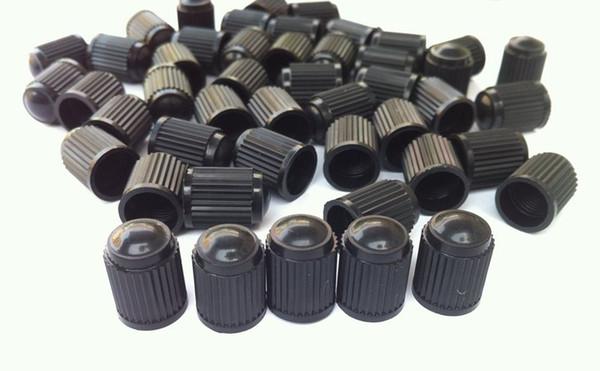 top popular 1000pcs lot Black Plastic Caps Tyre Dust Valve Air Valve Caps Fit For Bike Motorcycle Car Wheel Tyre Air Valve Stem Caps 2021