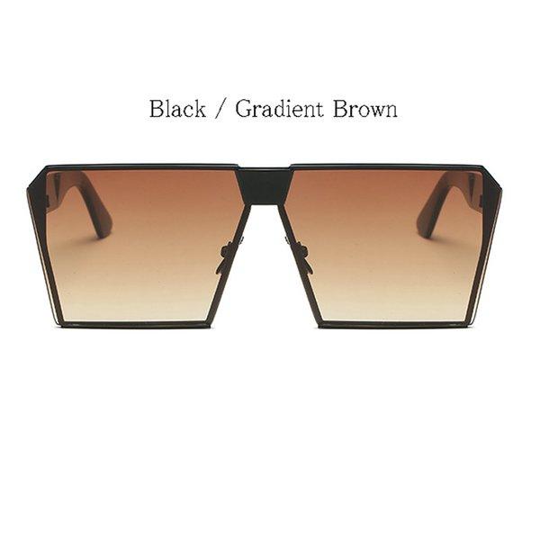 Schwarzer Rahmen Gradient Brown Lens